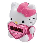 Hello Kitty AM/FM Projection Clock Radio and Battery