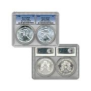 PCGS MS69 30th Anniversary Silver Eagles - 1986 & 2016