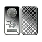 5 Troy oz. Proof 99.9% Silver Bar with Morgan Dollar De