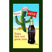"Coca-Cola ""Coke Pause Cactus"" Canvas Art"