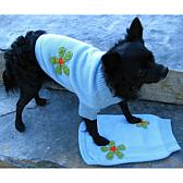Isabella Cane Knit Dog Sweater - Flowers