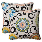 "Pillow Perfect Set of 2 Outdoor 18.5"" Throw Pillows"