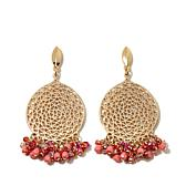 R.J. Graziano Beaded Cluster Circle Drop Earrings