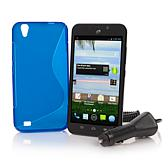 ZTE Quartz Android TracFone with Car Charger and Case