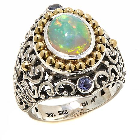 bali designs by robert manse ethiopian opal and tanzanite