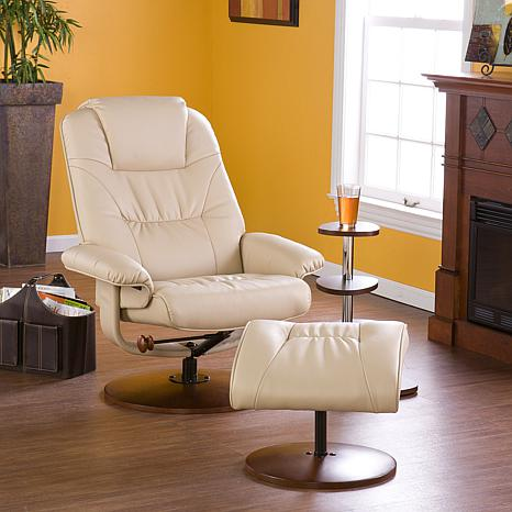 Bonded Leather Recliner And Ottoman Taupe 6637062 Hsn