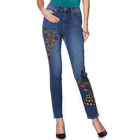 da9d03dba7256 DG2 by Diane Gilman Virtual Stretch Novelty Skinny Jean - 10078794 ...