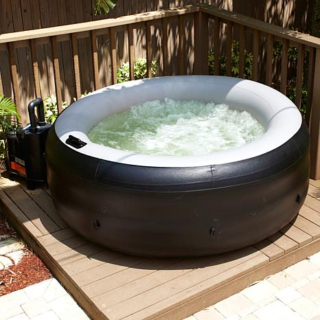 portable hot tub with cover 6744377 hsn. Black Bedroom Furniture Sets. Home Design Ideas