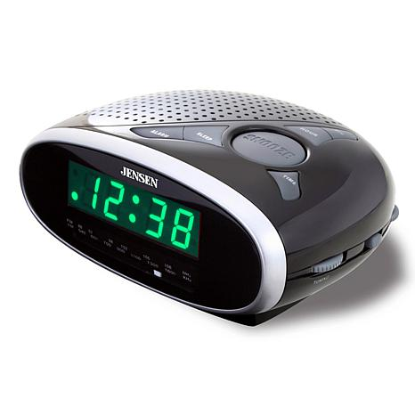 jensen am fm dual alarm clock radio hsn. Black Bedroom Furniture Sets. Home Design Ideas