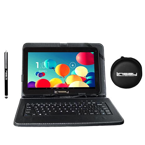 "linsay® 10.1"" quad core 8gb android tablet with keyboard"