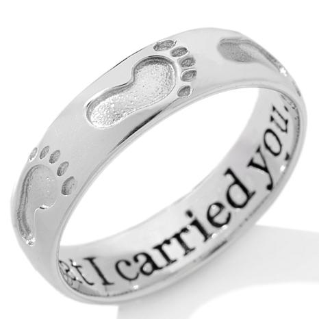 "Michael Anthony Jewelry® ""Footprints"" Sterling Silver Band ..."