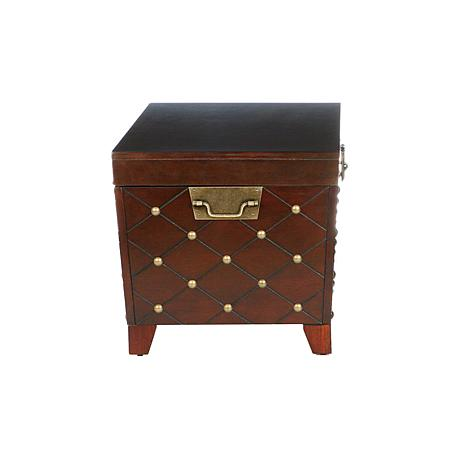 Nailhead Cocktail Table Trunk Espresso 6221870 Hsn