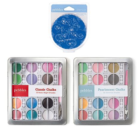 Pebbles Chalk and Stencil Kit