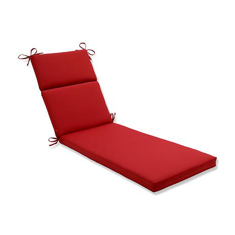 Pillow perfect pompeii chaise lounge cushion red for Chaise cushion clearance