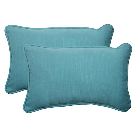 Pillow Perfect Set Of 2 Outdoor Forsyth Rectangular Throw
