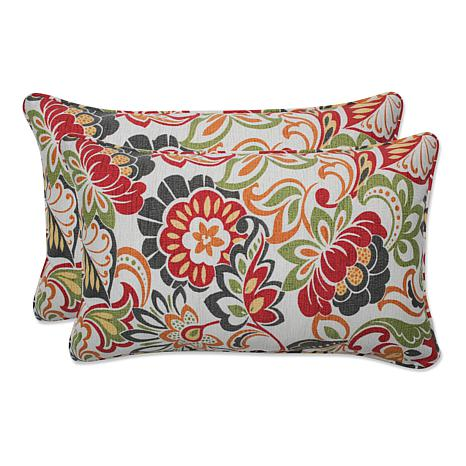 Pillow Perfect Set of 2 Zoe Rectangular Throw Pillows - Multi - 7408652 HSN