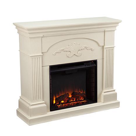 Ravenna Electric Fireplace Ivory 7630125 Hsn
