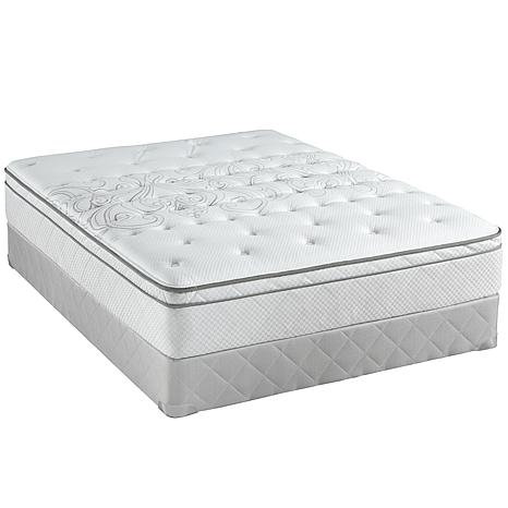 Sealy Posturepedic Woodlyn Plush Euro Mattress Set - Q