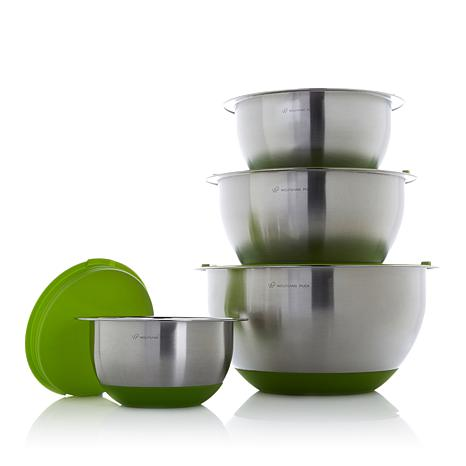 Wolfgang Puck 8pc Stainless Mixing Bowl Set