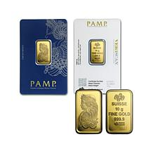 10g Prooflike PAMP Suisse Lady Fortuna .9999 Gold Ingot
