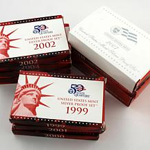 1999-2009 San Francisco Mint Silver Proof Sets