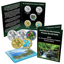 5-piece 2012 National Parks Quarters - El Yunque, PR