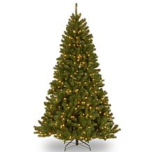 7.5 ft. North Valley Spruce Tree with Dual Color LED Li