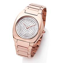 Croton Unisex Rosetone Cushion Case Dress Watch
