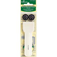 Double Tracing Wheel - White Handle Serrated Edge