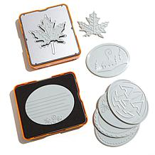 Fiskars Fuse 10-piece Die and Plate Kit - Oval and Leaf