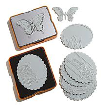 Fiskars Fuse 10pc Die and Plate Kit - Oval & Butterfly