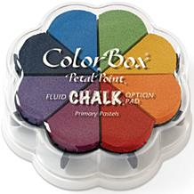 Fluid Chalk Petal Point Ink Pads - Primary Pastels