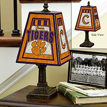 Handpainted Art Glass Team Lamp - Clemson - College