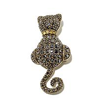 "Heidi Daus ""Purrrfect"" Pavé Crystal Black Cat Pin"