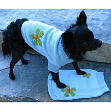 Isabella Cane Knit Dog Sweater - Flowers XS