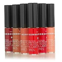 Korres Cherry Oil Lip Gloss 6-piece Wardrobe