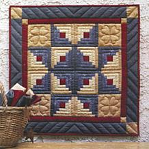 Log Cabin Star Wallhanging Quilt Kit - 22x22