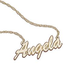 MBM 10K Gold Script Name Necklace
