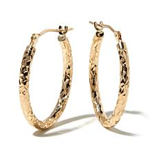 Michael Anthony Jewelry® 10K 20mm Oval Hoop Earrings