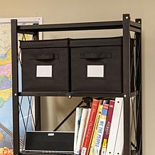Origami Bookshelf Storage Bins - 2-pack