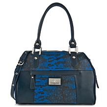 Sharif Java Ring Lizard-Embossed Leather Satchel
