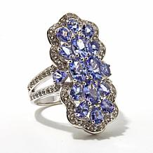 Victoria Wieck 3.62ct Tanzanite and White Topaz Ring