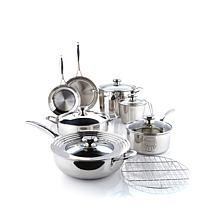Wolfgang Puck Bistro Elite 13pc Stainless Cookware Set
