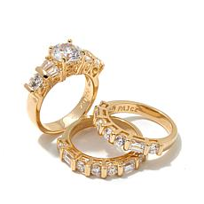 4.40ctw Absolute™ Round with Baguette 3-piece Ring Set