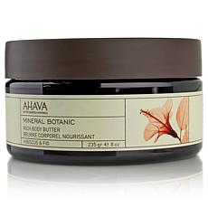 AHAVA Mineral Botanic Rich Body Butter - Hibiscus & Fig