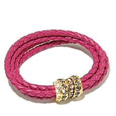 "AKKAD ""Wrap Me in Love""  Woven Leather Cord Bracelet"