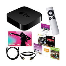 Apple TV® 3rd Gen w/HDMI/Audio Cables & $10 iTunes Card