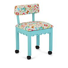 Arrow Sewing Chair with Seat Storage - Blue/White