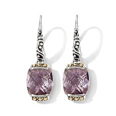 Bali Designs 9ct Amethyst 2-Tone Drop Earrings