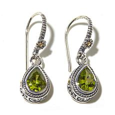 Bali Designs Peridot Sterling Earrings with 18K Accents